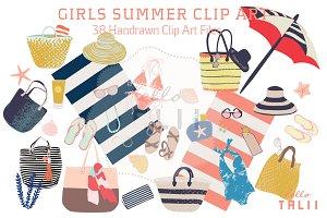 Girl's Summer (Clip Art)