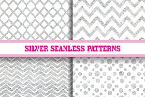 Silver Seamless Patterns