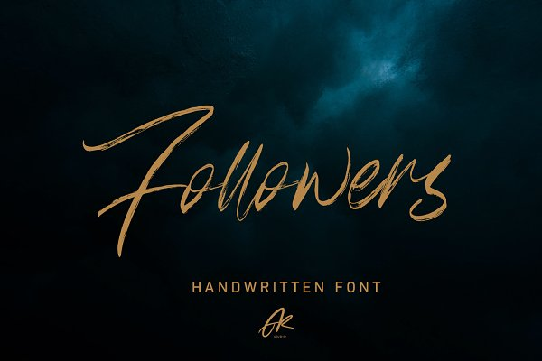 Follower Handwritten Brush Font