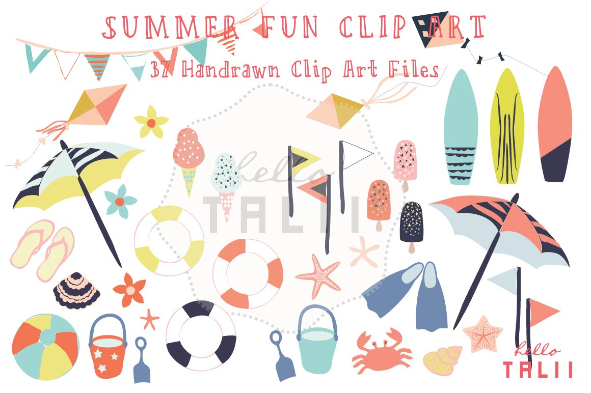 Summer Fun (Clip Art) ~ Illustrations ~ Creative Market
