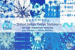 Shibori Indigo Tiedye Textures