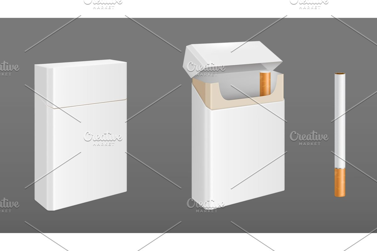 Pack of cigarettes with one