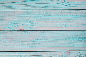 Wooden blue background