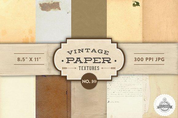 Vintage Paper Textures - No. 10 - Textures