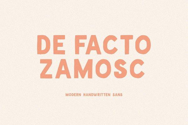De Facto Zamosc + Free Font & Logos