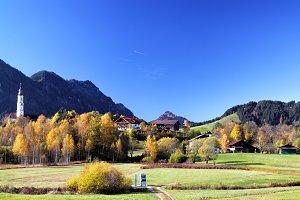 Autumn Landscape at Pfronten