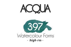 ACQUA - 397 Watercolor Forms