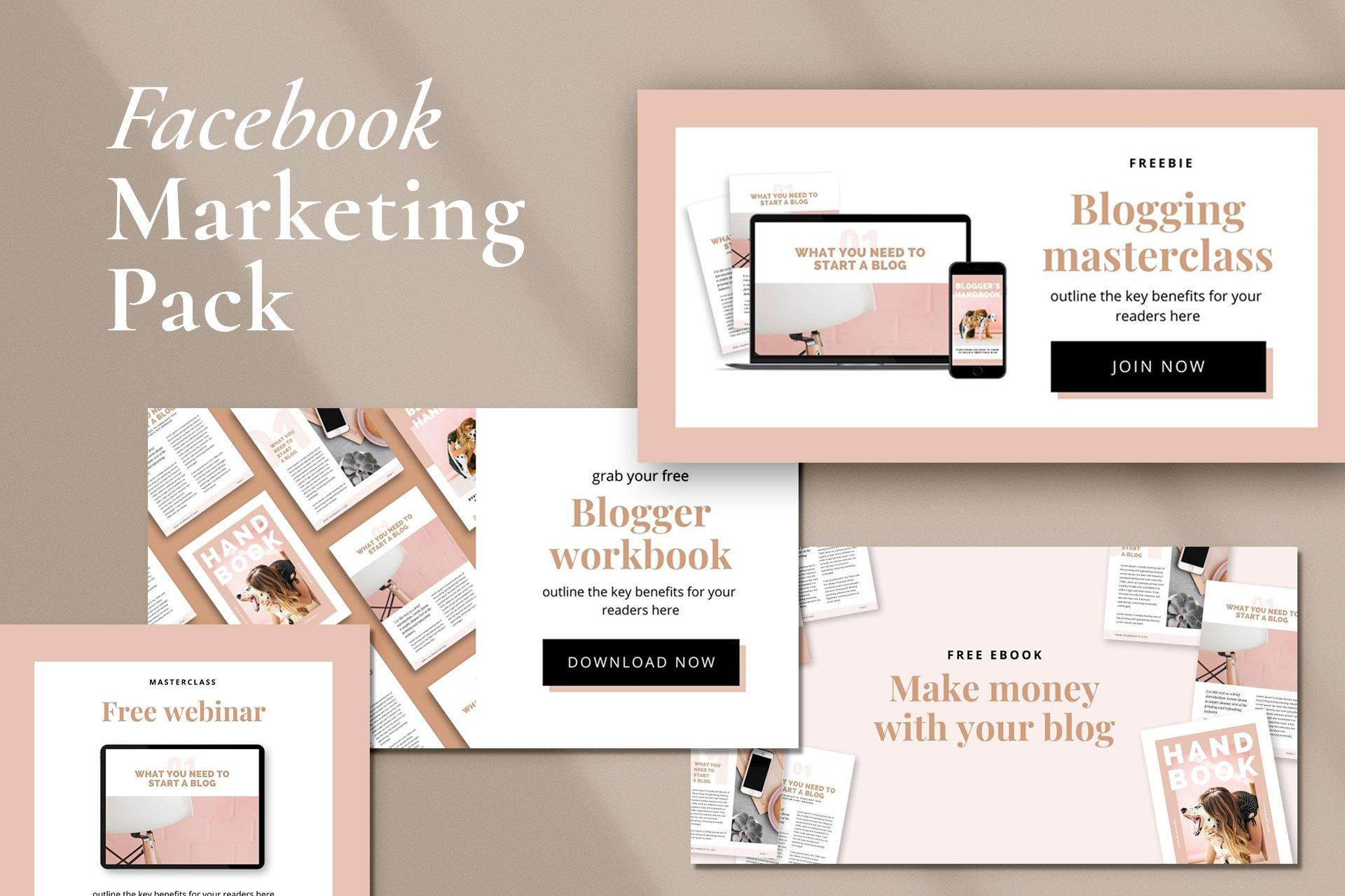 Facebook Marketing Pack   CANVA   Creative Canva Templates ...