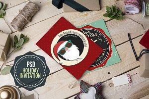 Xmas-Holidays letter mockup-PSD