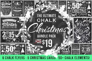 Chalk Christmas Bundle (75% off)