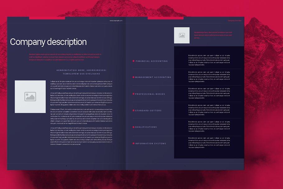Purple Business Brochure Layout