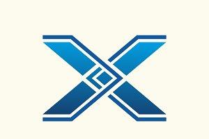 X Point Letter Logo
