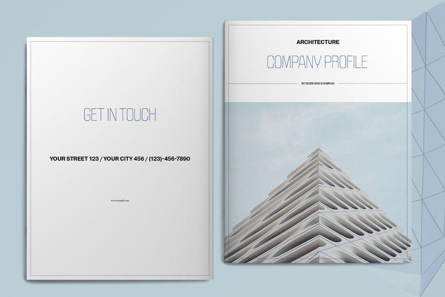 Blue Architecture Brochure Layout
