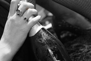 Champagne with stockings