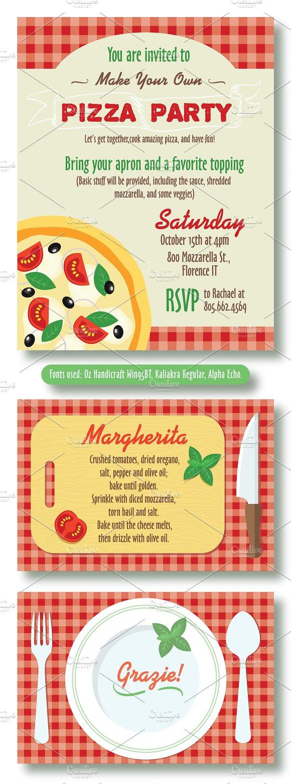 editable pizza party invitation invitation templates creative daddy