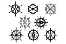 Steering wheels set for heraldry des