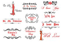 Valentine's Day elements and decorat