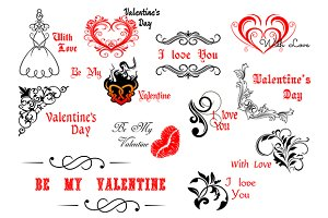 Valentine's Day calligraphic and dec