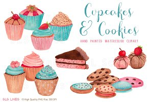 Cupcakes & Cookies Clipart