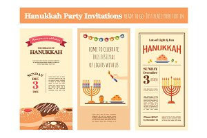 Chanuka party invitations set
