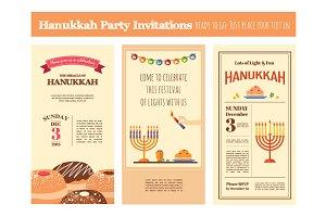 Chanuka party invitations set