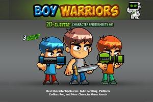 Boy Warrriors Character Sprites 01