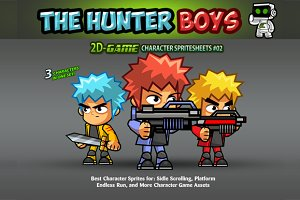 Hunter Boys- Character Sprites 02
