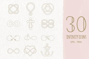 30 Infinity Symbols EPS & PNG