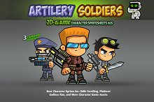 Artillery Soldiers Character Sprites