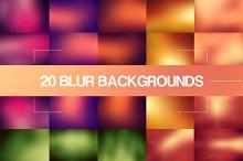 20 Color Blur Backgrounds
