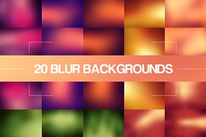 20 Color Blur Backgrounds