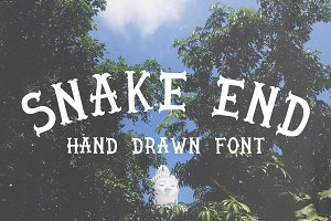 Snake end - hand drawn font