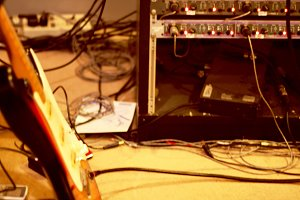recording studio out of focus