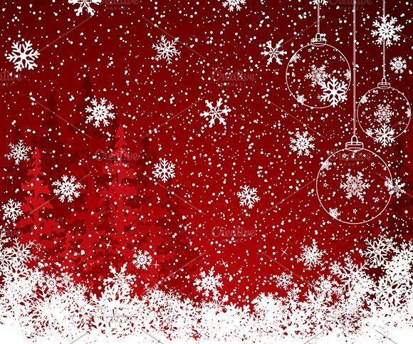 Red Christmas decoration background