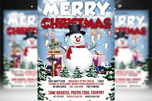 Merry Christmas Flyer Template 3