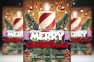 Merry Christmas Flyer Template 4