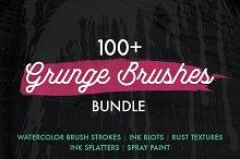 100+ Grunge Photoshop Brushes Bundle