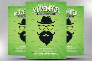 Movember Flyer Template