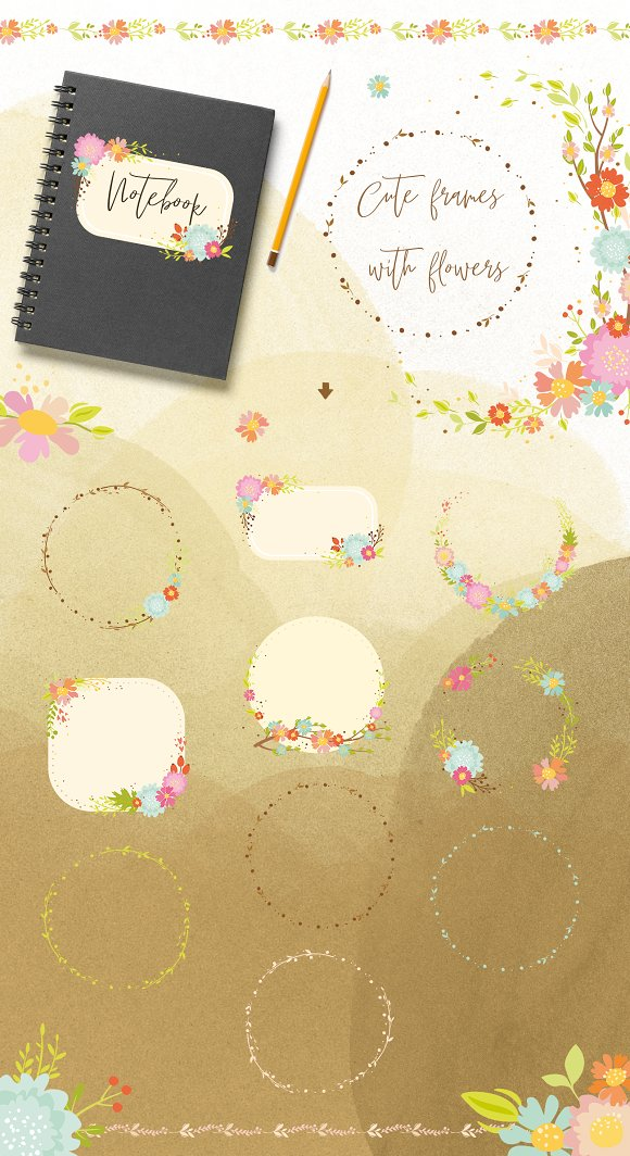 Spring forest. Woodland animals in Illustrations - product preview 1