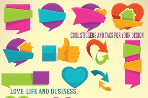 bright and funny stickers:)