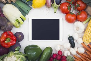 Vegetables tablet mockup