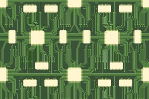 Seamless microchip circuit pattern
