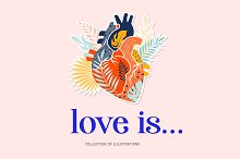 Love is... modern heart collection