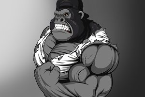 Terrible gorilla athlete
