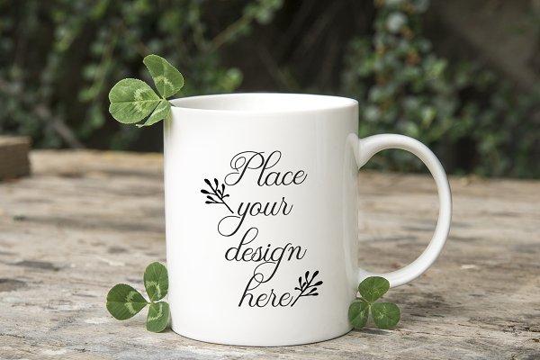 Coffee mug St Patricks day  mockup
