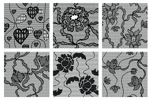16 Lacy vector seamless patterns