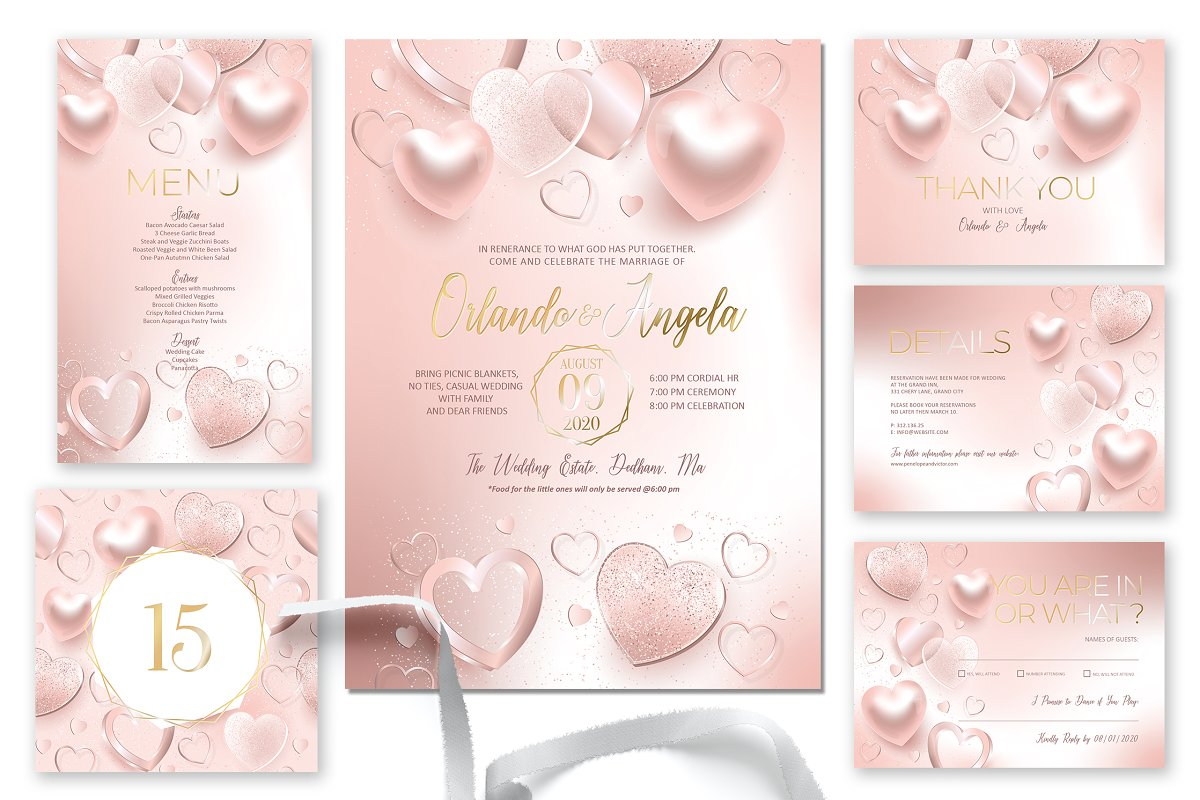 Shimmer hearts Wedding Suite