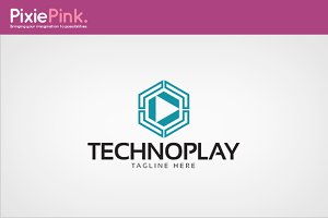 Techno Play Logo Template