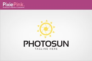 Photo Sun Logo Template