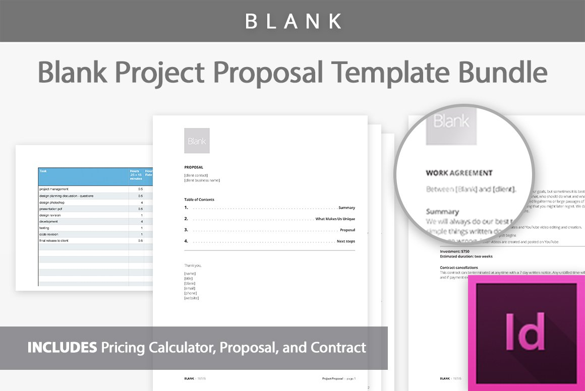 Blank Project Proposal Templates Presentation Templates